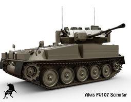Alvis FV107 Scimitar 3D model
