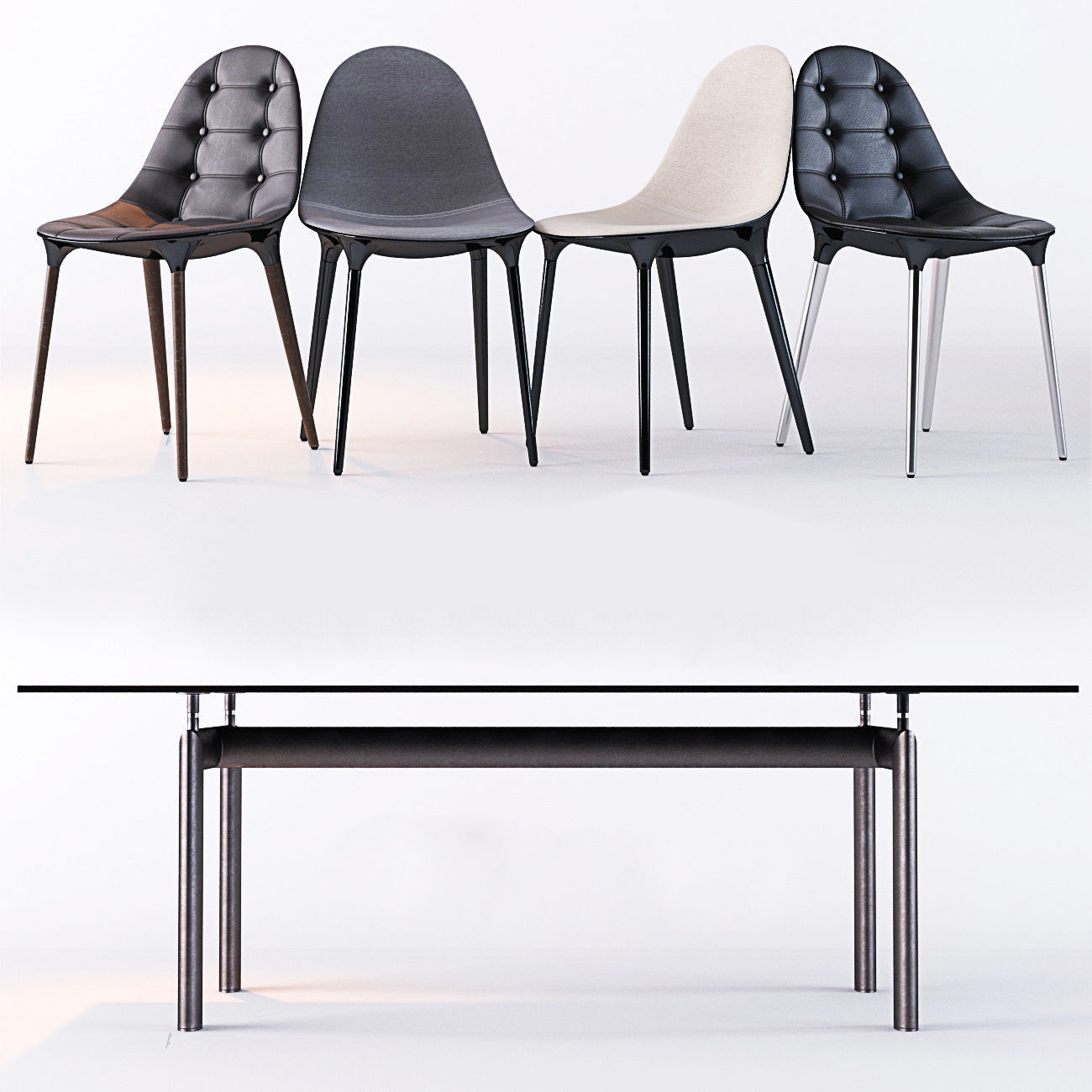Cassina Caprice Chairs Lc6 Table 3d Model Max Obj 1 ...
