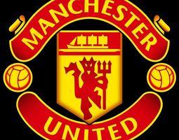 3D manchester united logo