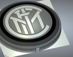 inter milan logo 3D model