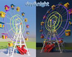 carnival 3D model Ferris wheel