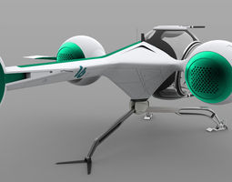 3d futuristic self balancing helicopter - oblivion concept