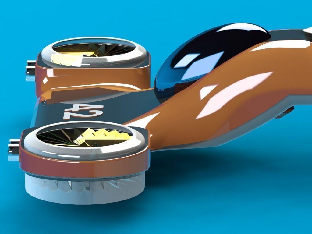 Futuristic Personal Hover Car 3d Model Stl Sldprt