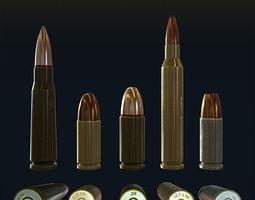 Low Poly Bullets 3D Model