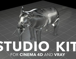 Studio kit for Cinema 4d and VRAY 3D