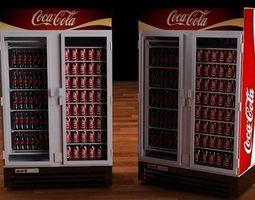 Coca Cola refrigerator 3D Model