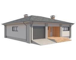 3D asset Cottage House 3