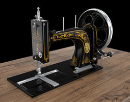 vintage sewing machine 3D