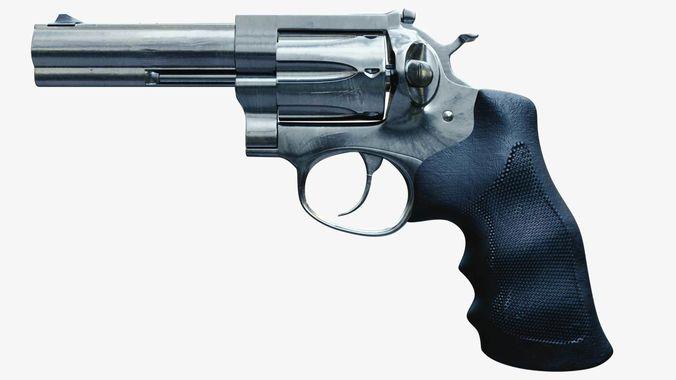 revolver handgun 3d model obj mtl fbx blend 1