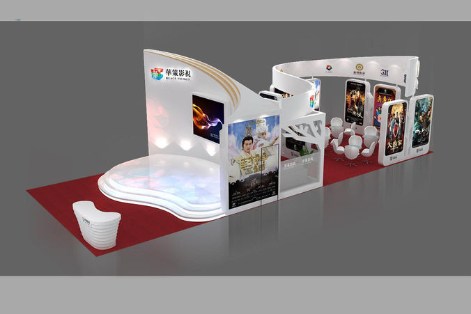Exhibition area 15X6 3DMAX2009 -43D model