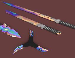 3D asset realtime Swords