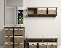 3D model Maui hall entry furnitures