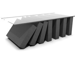 3D asset VR / AR ready Falling Dominoes Coffee Table