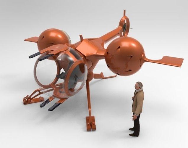 Self Balanacing Helicopter3D model