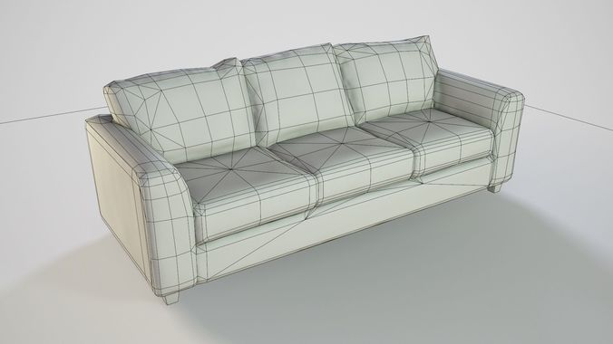 Pbr Customizable Sofa 3d Model Low Poly Obj Fbx Dae Mtl 12
