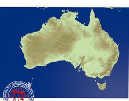 3D model Australia elevation map