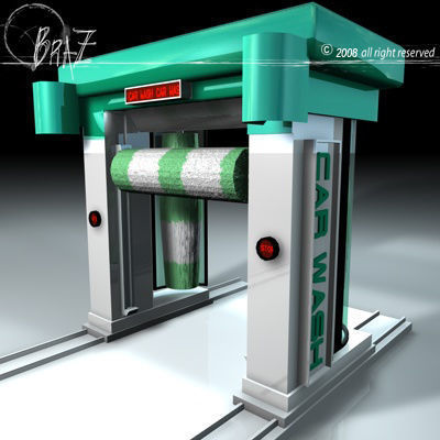 car wash 3d model obj mtl 3ds c4d dxf 1