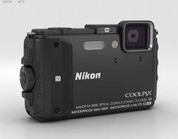 3D Nikon Coolpix AW130 Black
