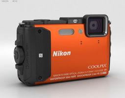 3D model Nikon Coolpix AW130 Orange