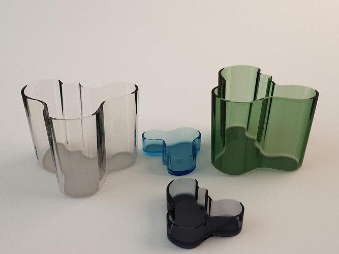 3d model ittala alvar aalto vase cgtrader. Black Bedroom Furniture Sets. Home Design Ideas