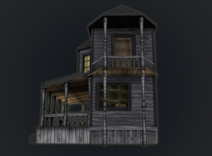 Haunted Halloween House 3d Model Game Ready Max Obj 3ds