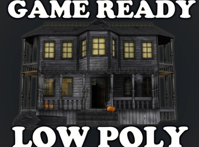 Haunted Halloween House3D model