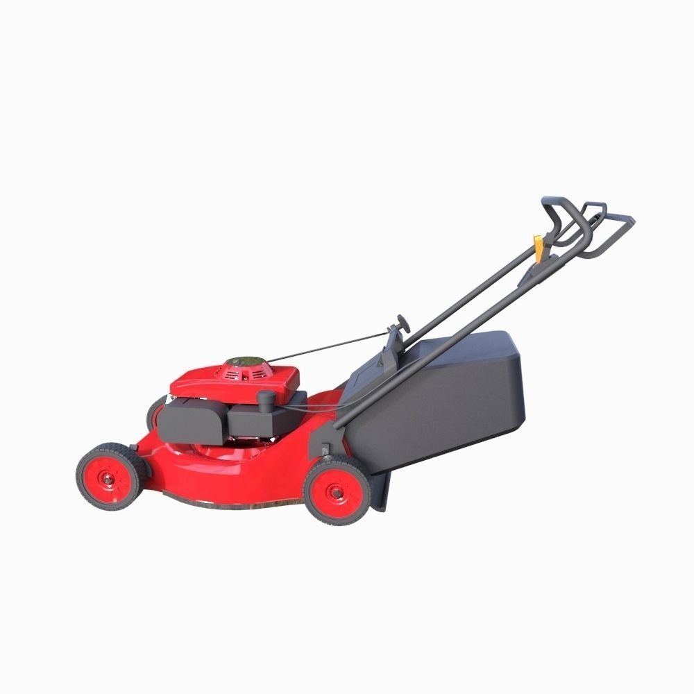 Lawn mower 3d model fbx ma mb for Gardening tools 3d model