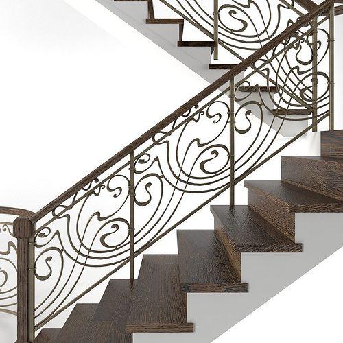 railings 3d model max obj mtl fbx 1