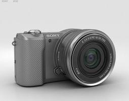 Sony Alpha A5000 Silver 3D model