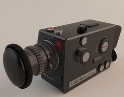 leitz leicina super-8 camera 3d model max obj fbx tga