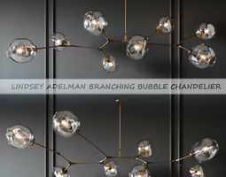 BRANCHING BUBBLE 8 LAMPS GOLD BY LINDSEY ADELMAN 3D model