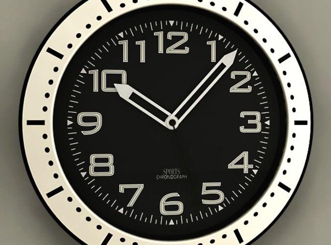 Wall Clock 093D model