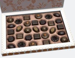 chocolate box 3d model max fbx