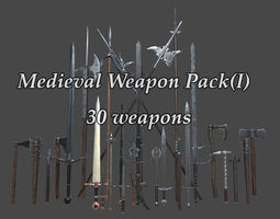 PBR Medieval Weapons Pack I 3D asset