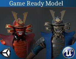 3D asset Samurai armor