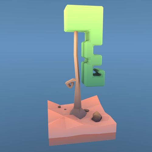 low poly tree - the curly tree 3d model low-poly fbx blend 1
