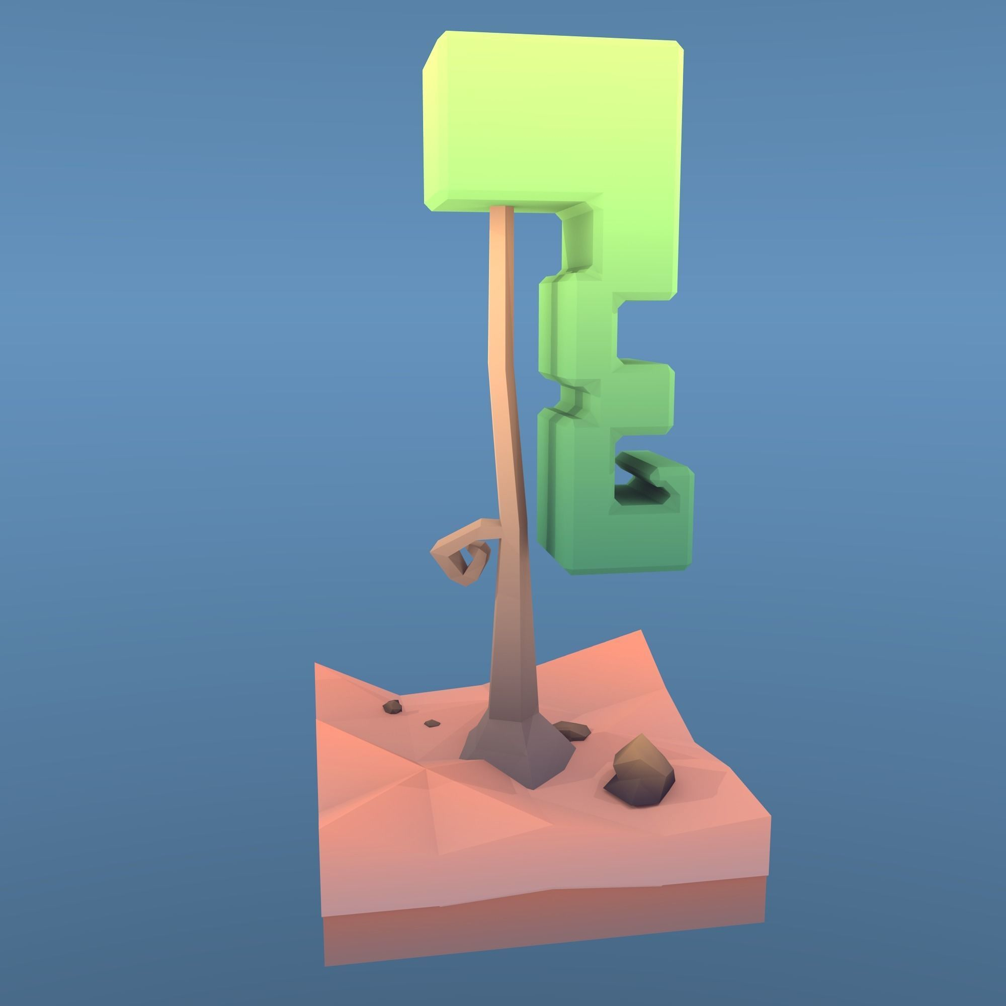 Low Poly Tree - The Curly Tree