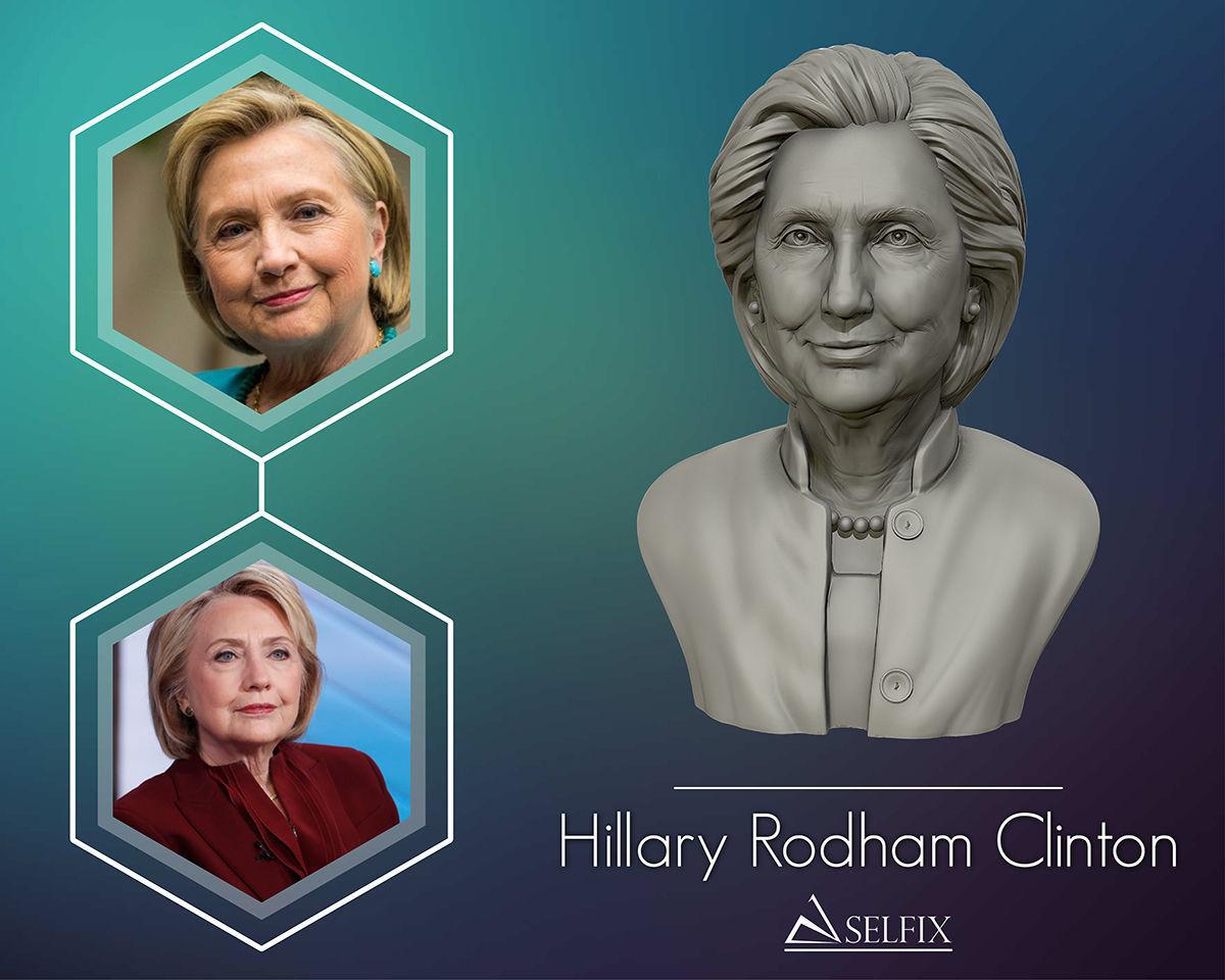 Hillary Clinton 3D printable model