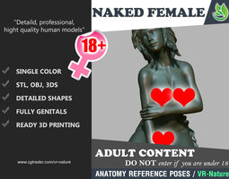 3D Naked Girl Printable 180224-01