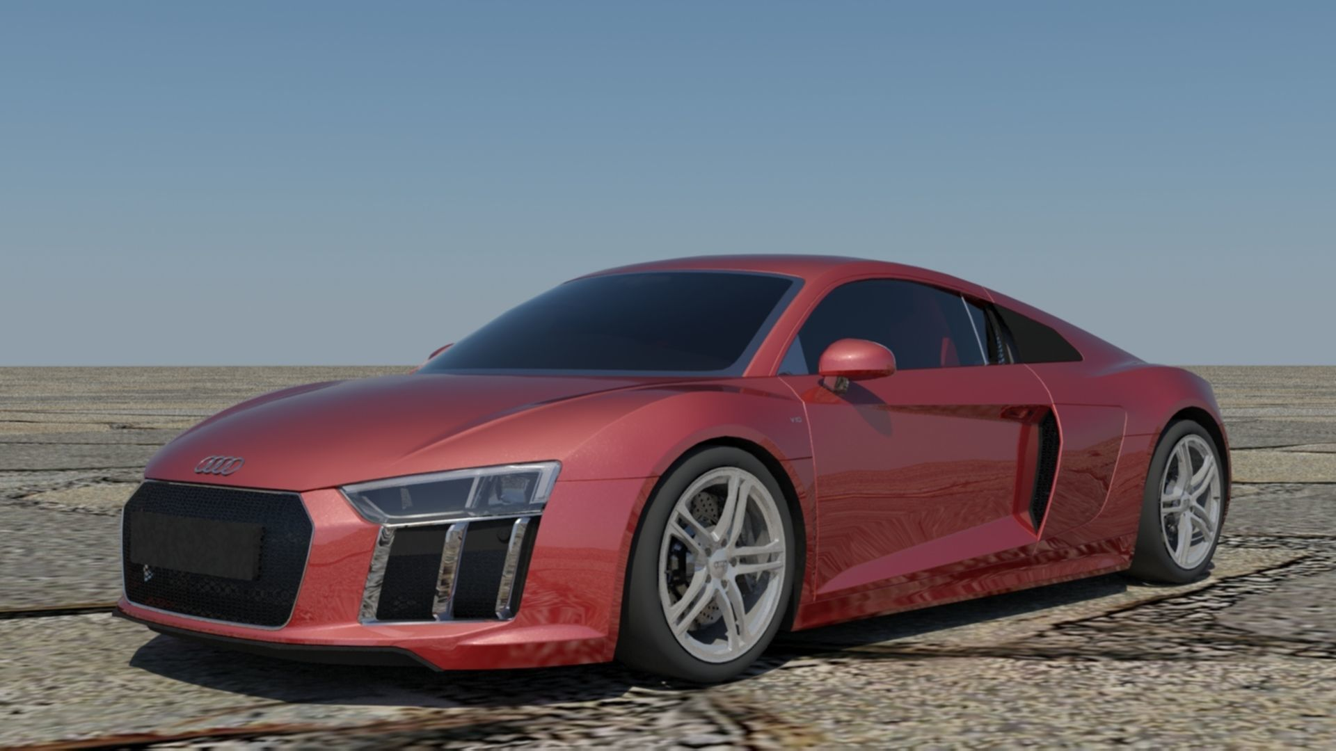 Audi R8 V10 Coupe 3d Model Low Poly Max Obj 3ds Fbx C4d Stl 1 ...