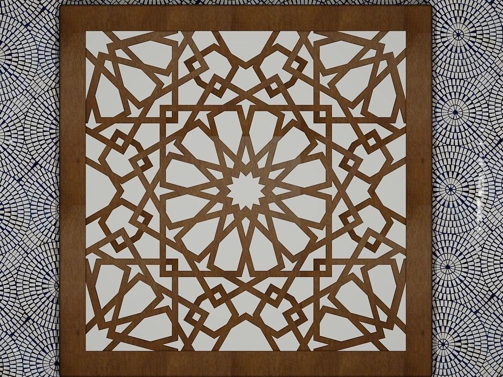 Arabesque Art 3d Model 3d Printable Stl Dwg Cgtrader Com
