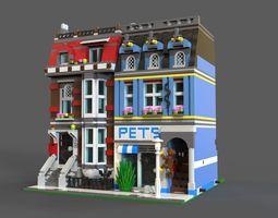 Lego Pets Shop 3D model game-ready