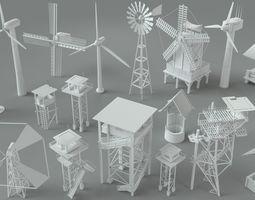 generator 3D model Environment Units-part-1 - 19 pieces