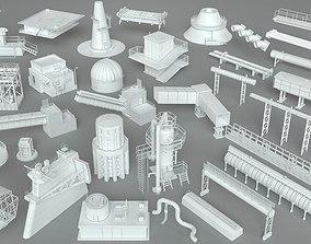 Factory Units-part-1 - 32 pieces 3D