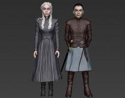 Game of Thrones pack Daenerys Arya full color 3D