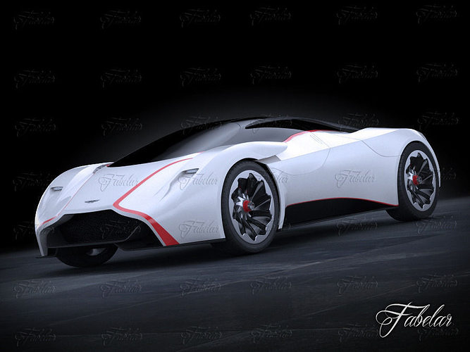 aston martin dp100 concept 3d model rigged max obj mtl 3ds fbx c4d dae 1