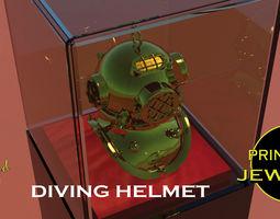 divng Printable Diving Helmet Pendant