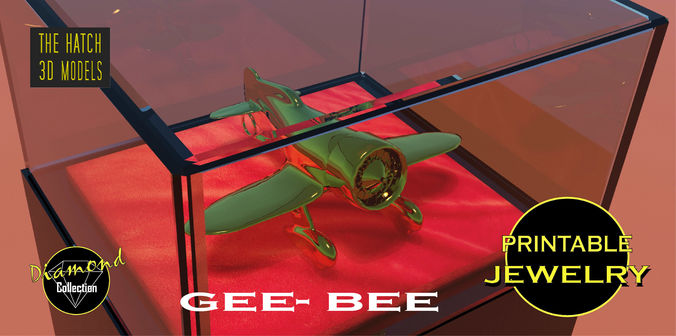 printable geebee pendant 3d model obj stl mtl 1