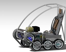 3d model animated personal tracked vehicle