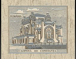 Casino Constanta Romania for Embossing 3D print model 2